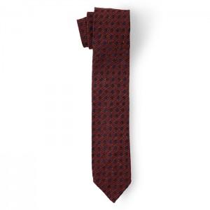 Cravate à motifs - Soie bordeaux