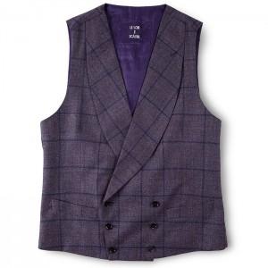 Gilet croisé - Tartan violet