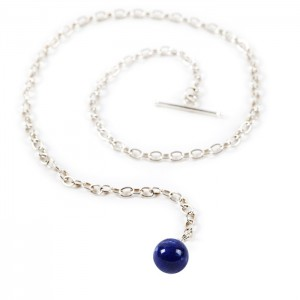 Boutonnière chaîne lapis lazuli