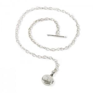 Boutonnière chaîne petit médaillon argent 925