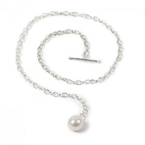 Boutonnière chaîne perle d'eau douce