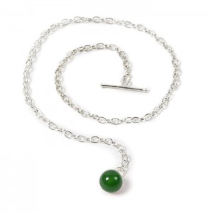 Boutonnière chaîne Agate Verte