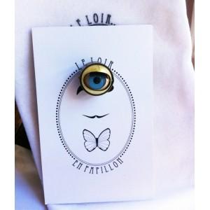 Epingle à la boutonnière - Le clin d'oeil - Le Loir en Papillon