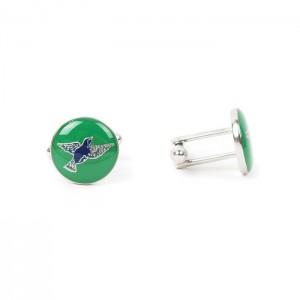 Green Bird - Cufflink