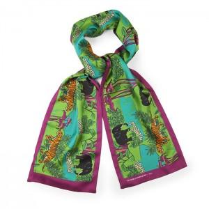 """""""Elephant"""" silk scarf"""