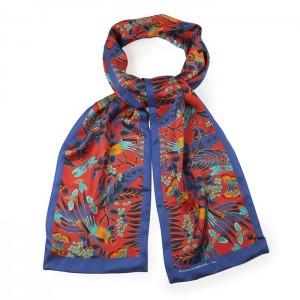 """Parrot"" silk scarf"