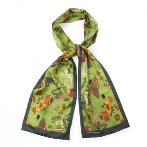 """Japan"" silk scarf"