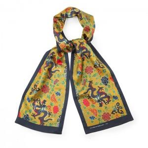 """Pavillon doré"" silk scarf"