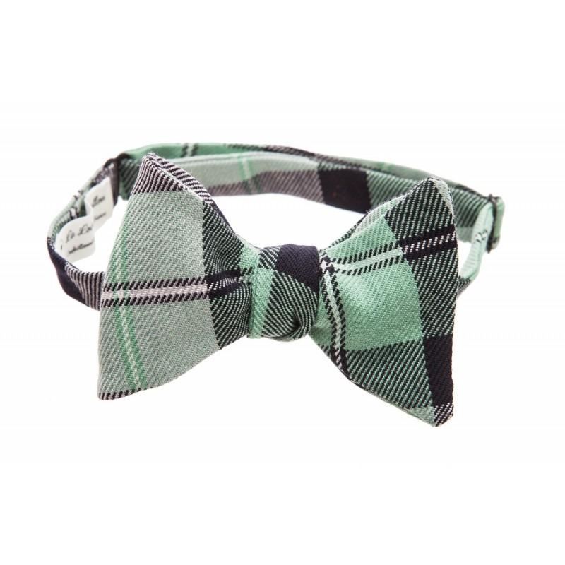 Noeud-papillon-tartan-laine-le-green